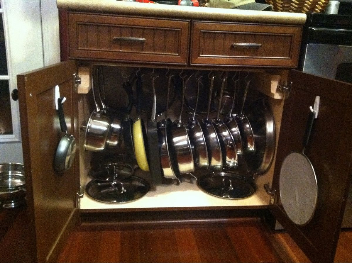 Pots And Pans Storage Smart I Could Put Seldom Used Liances In The E