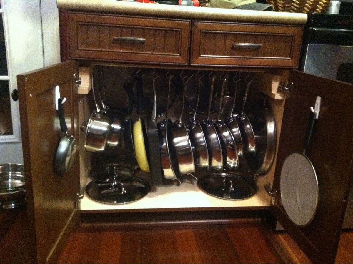 Amazing Kitchen Pan Storage Ideas Part - 13: Pots And Pans Storage