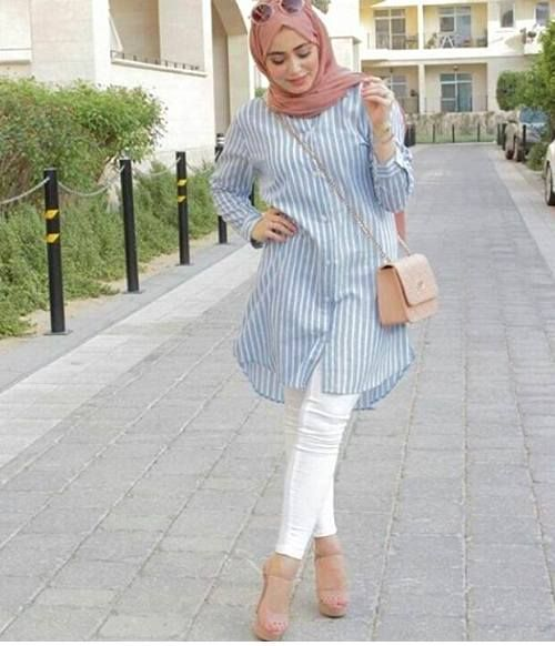 pastel shirt dress hijab it winter mode wintermode. Black Bedroom Furniture Sets. Home Design Ideas