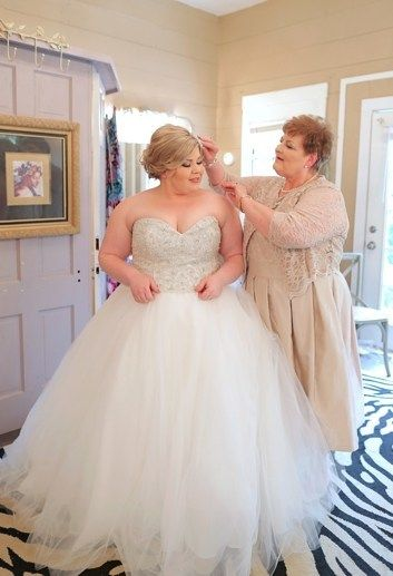 Bling Bling Sweetheart Wedding Dress for Plus Size Bide ...