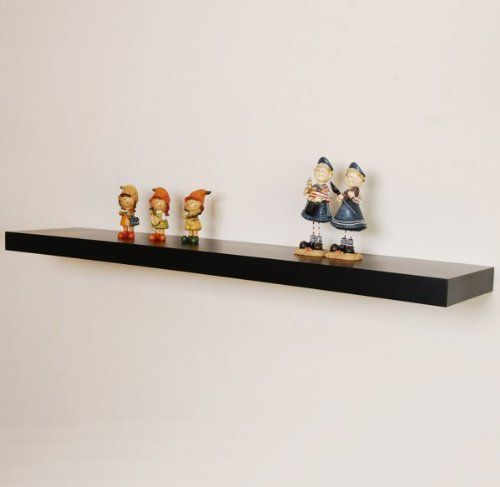 48 X 10 Floating Wall Shelf Black Black 2 H X 48 W X 10 D By Welland Ennovage 55 99 Made From Hi Floating Shelves Floating Wall Shelves Wood Shelves