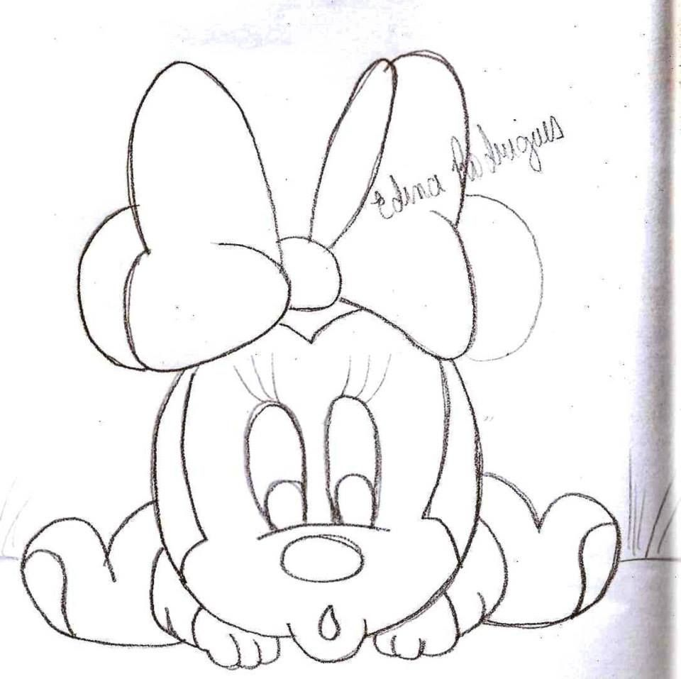 minnie | Desenhos para fraldas | Pinterest | Sewing projects and Crafts