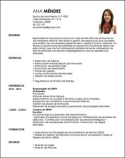 Curriculum Vitae Recursos Humanos Modelo De Curriculum Vitae Curriculum Vitae Curriculum