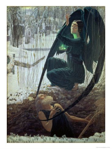 The Death and The Gravedigger - Carlos Schwabe