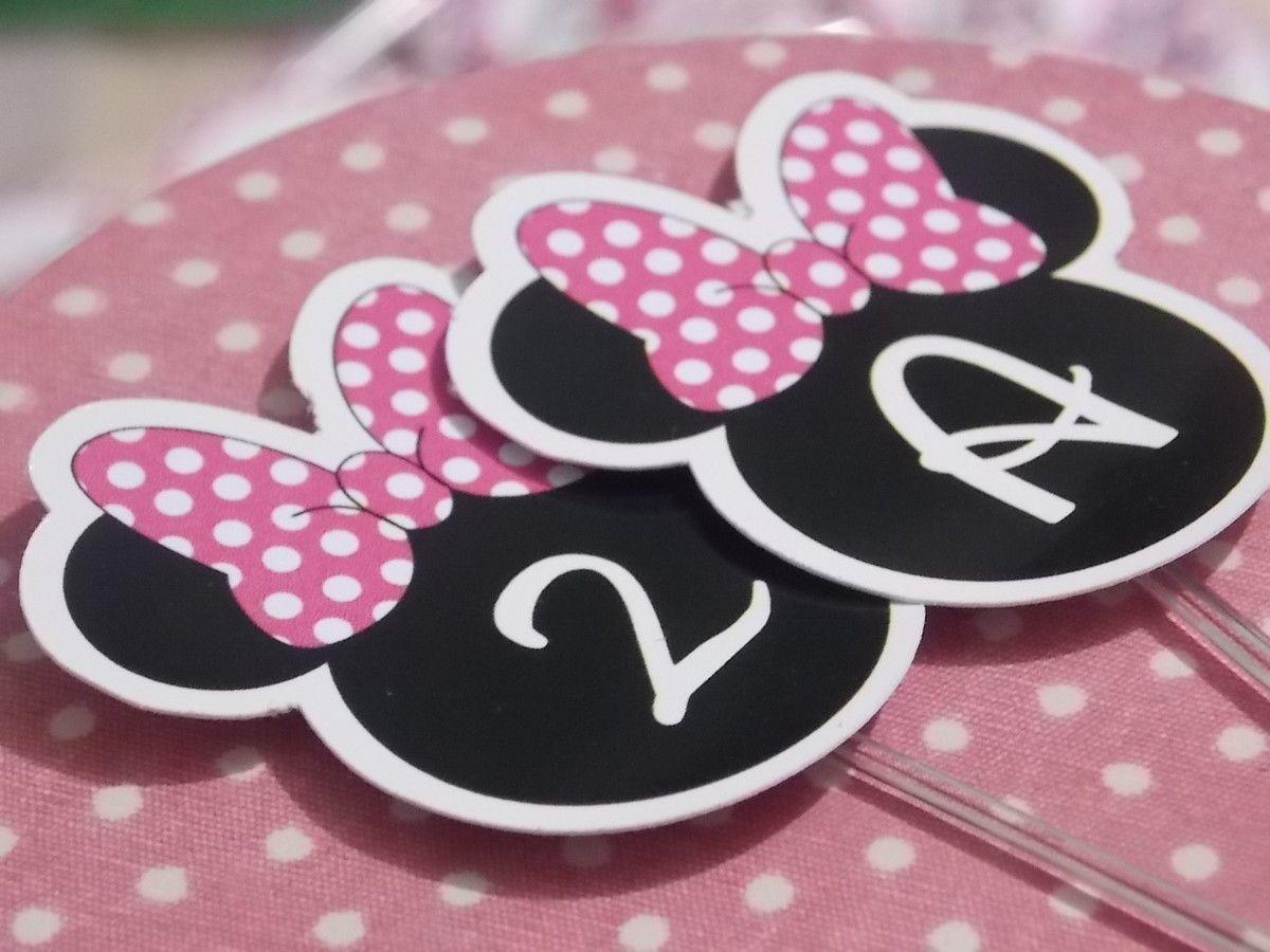 Topper Minnie Disney - inspirações festa de aniversário