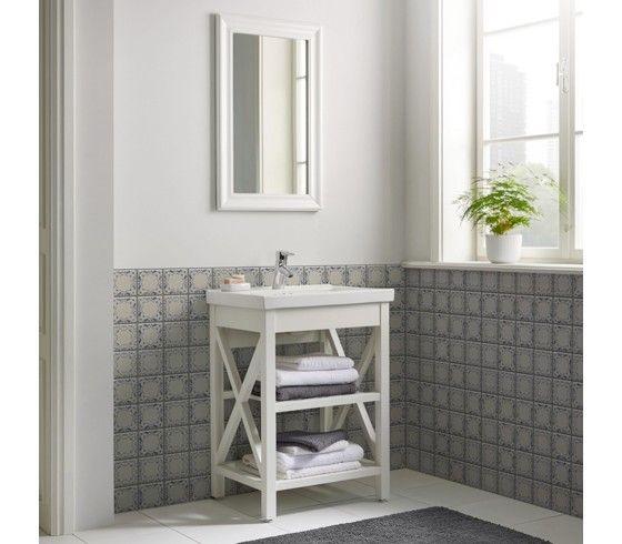 2-teilige Waschtischkombi im Landhausstil - ein hübscher Blickfang - bad landhausstil