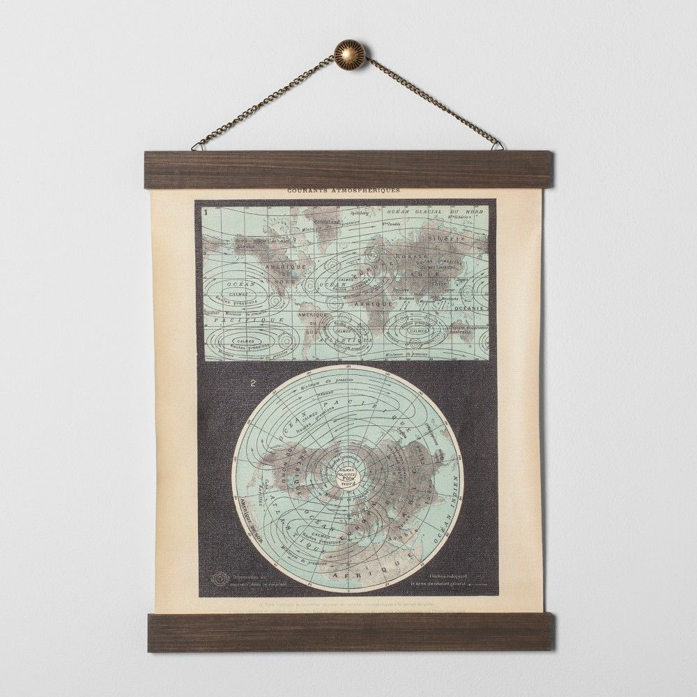 Earth map wall art hearth hand with magnolia gray black