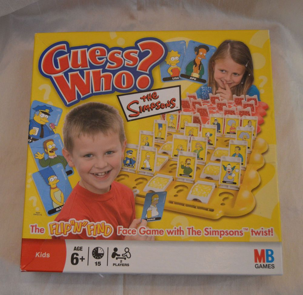Rare The Simpsons Guess Who Game MB Games Good