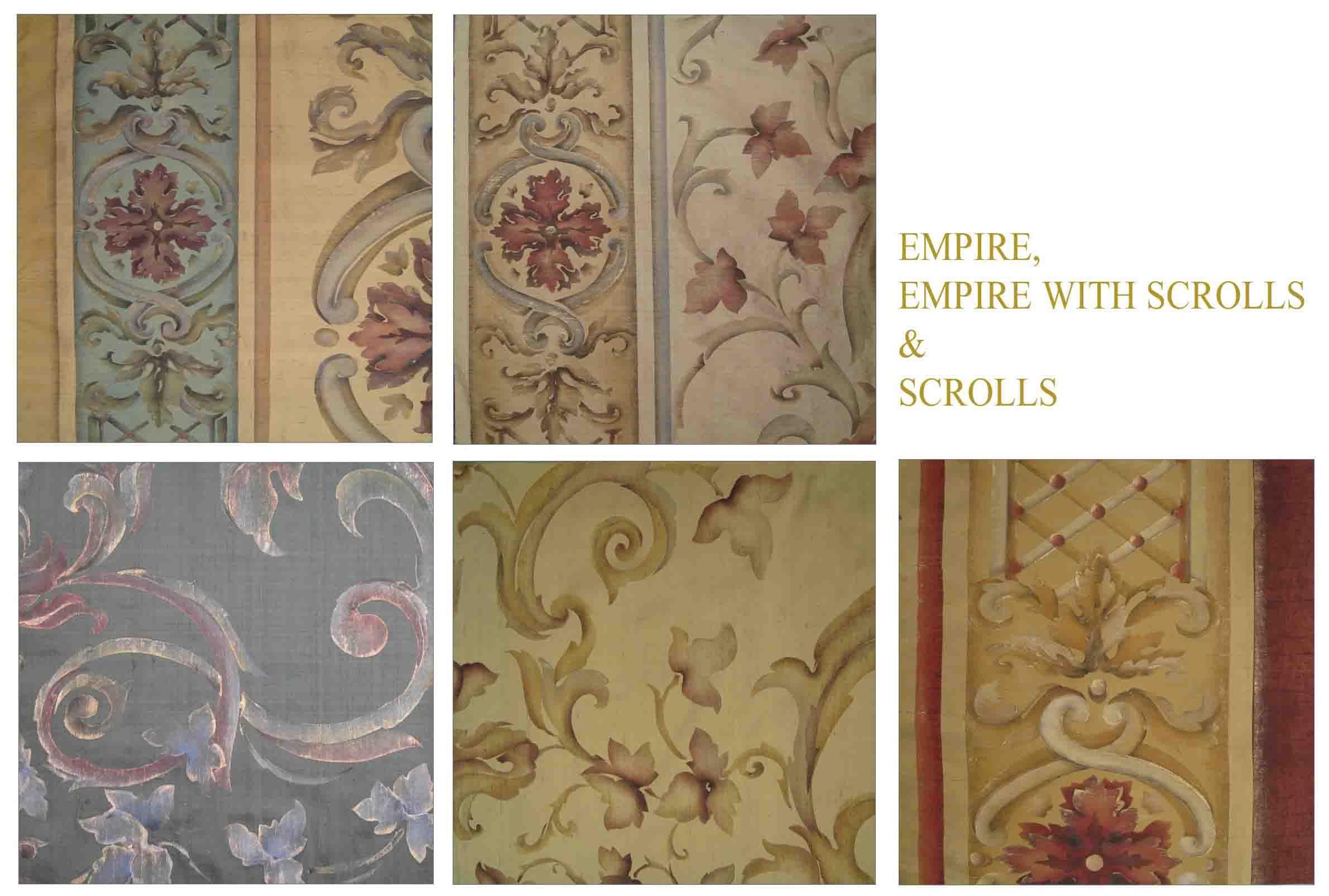 Bery Designs Hand Painted Fabrics Empire Hand Painted Fabric Fabric Painting Empire Design