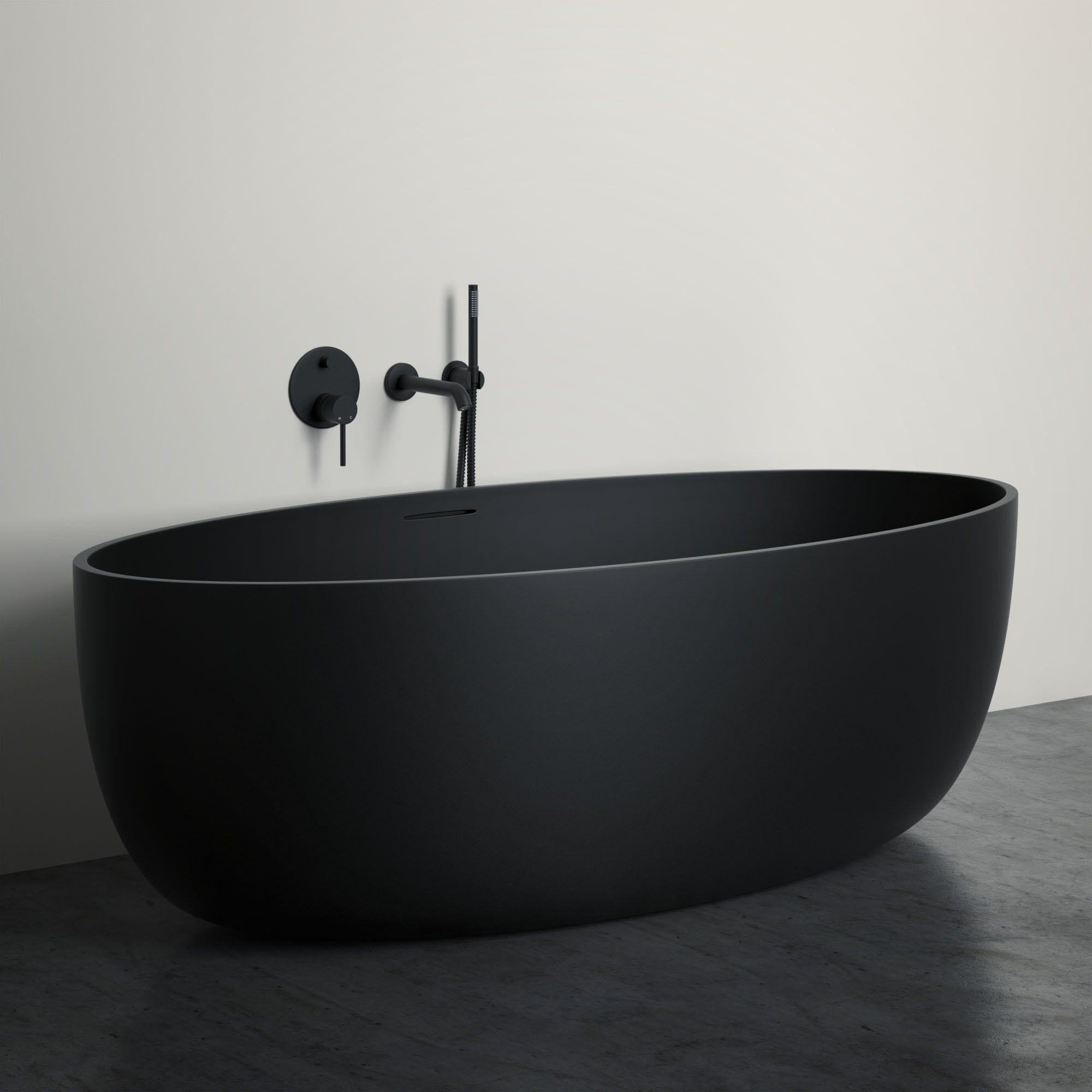 Lusso Stone Vetrina Black Stone Resin Solid Surface Freestanding Bath 1700 Mit Bildern Badezimmer Schwarz Badezimmer Wasserhahn Badezimmer