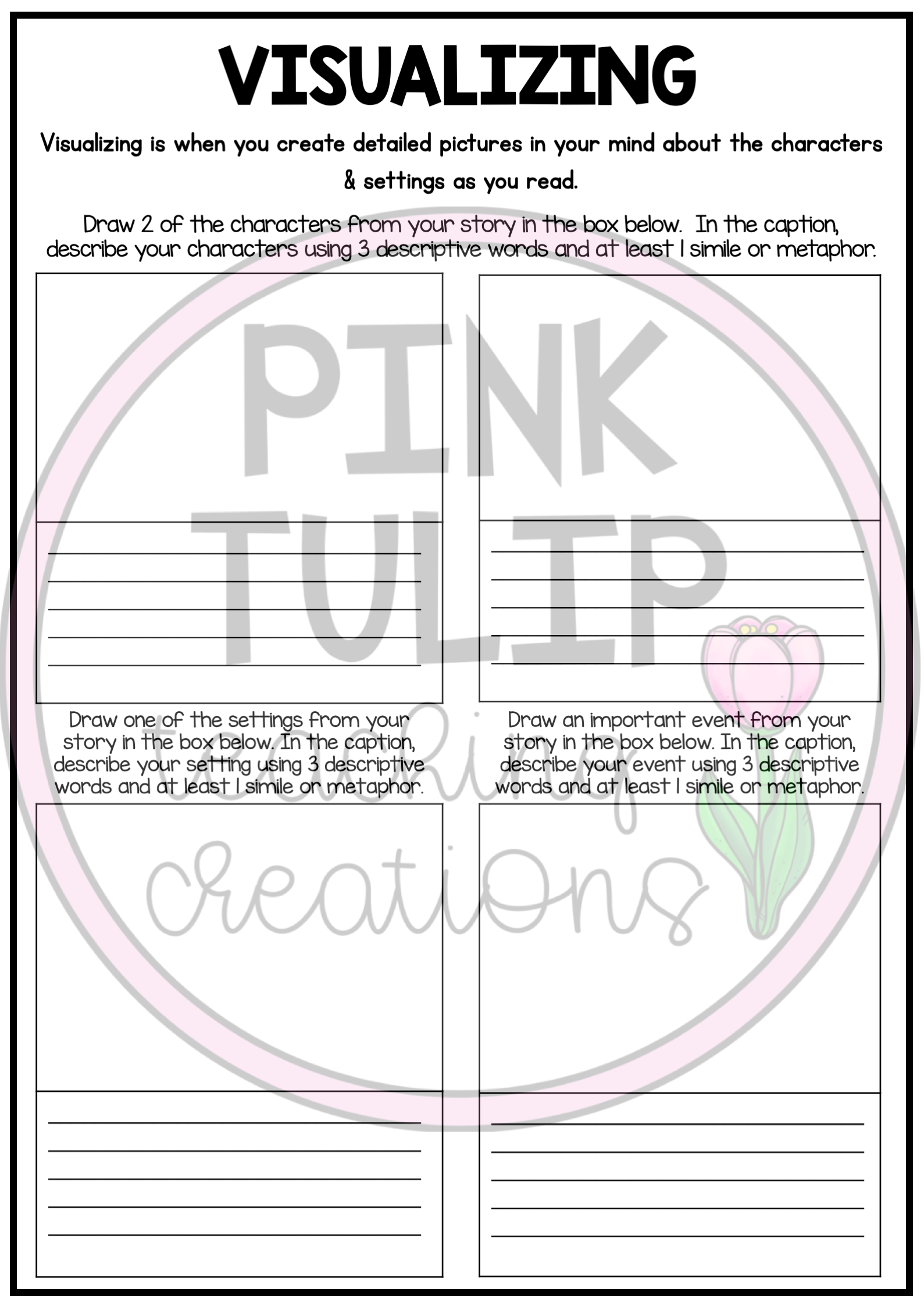 - Reading Strategies Worksheets - Use With Any Book In 2020