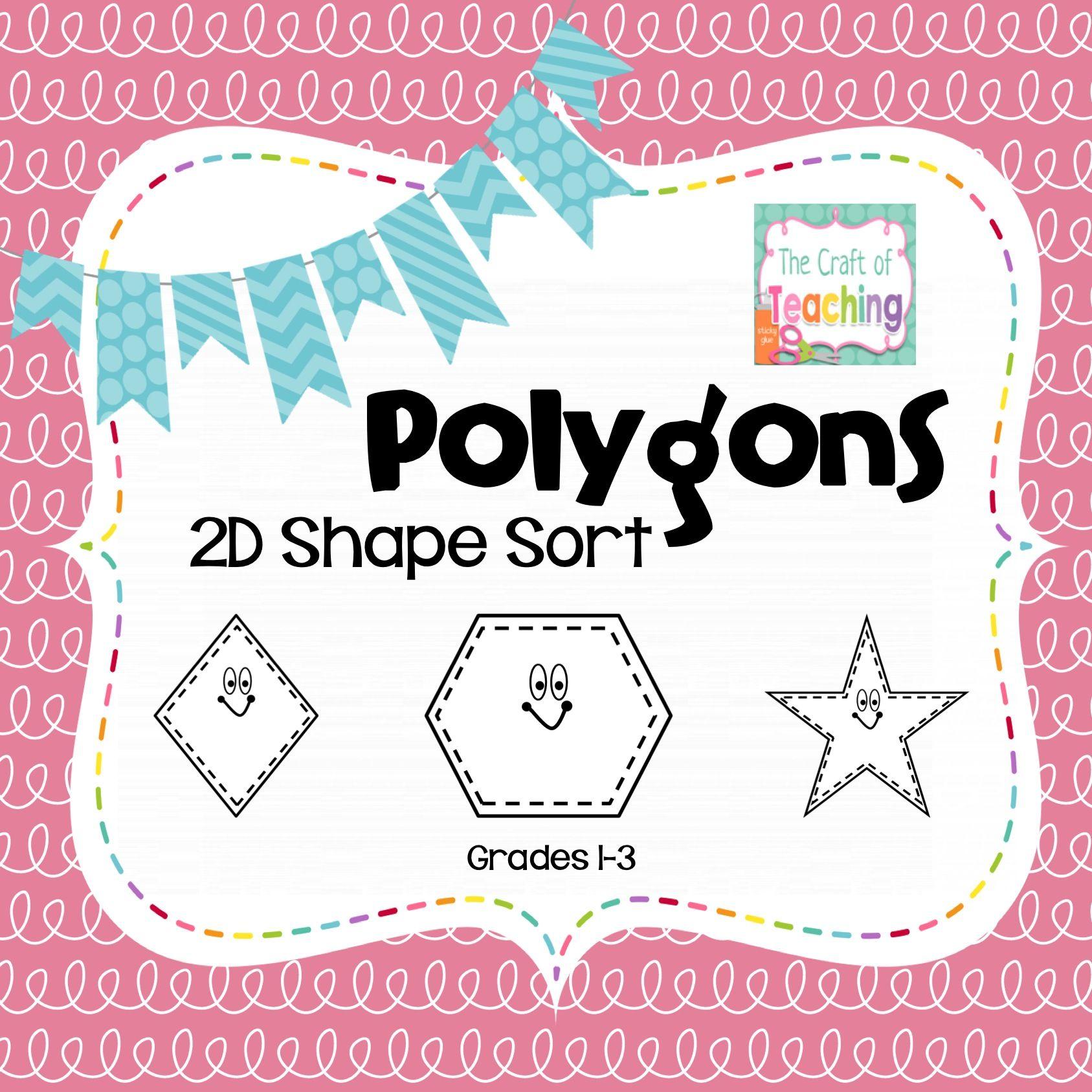 Polygon Shape Sort FREEBIE Shape sort, Polygon shape