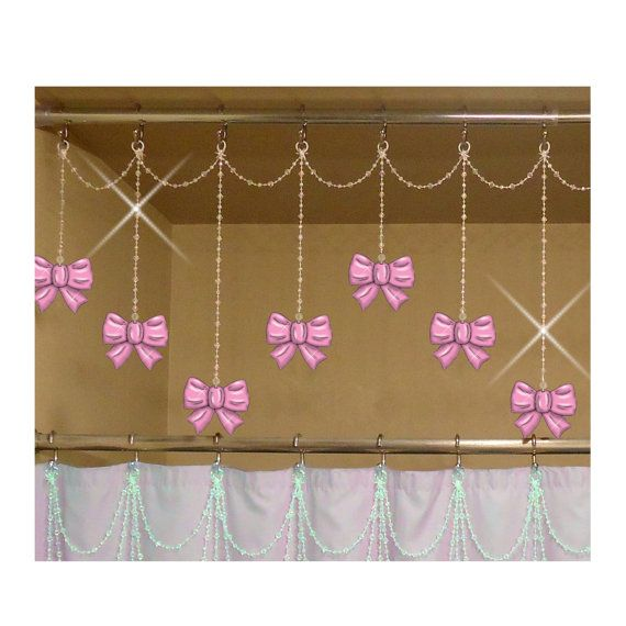 Bows Shower Curtain Hook Charm Ornaments Set Of 12 Pretty