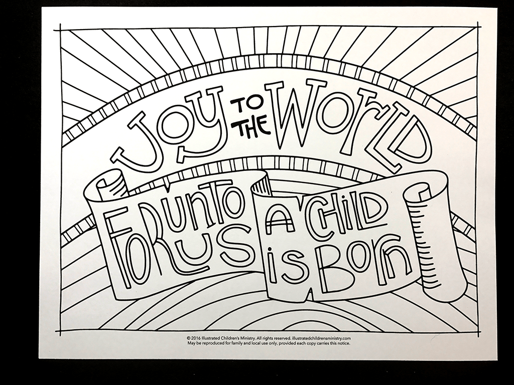 Joy To The World Coloring Sheet Advent Coloring Coloring Pages Coloring Pages Inspirational