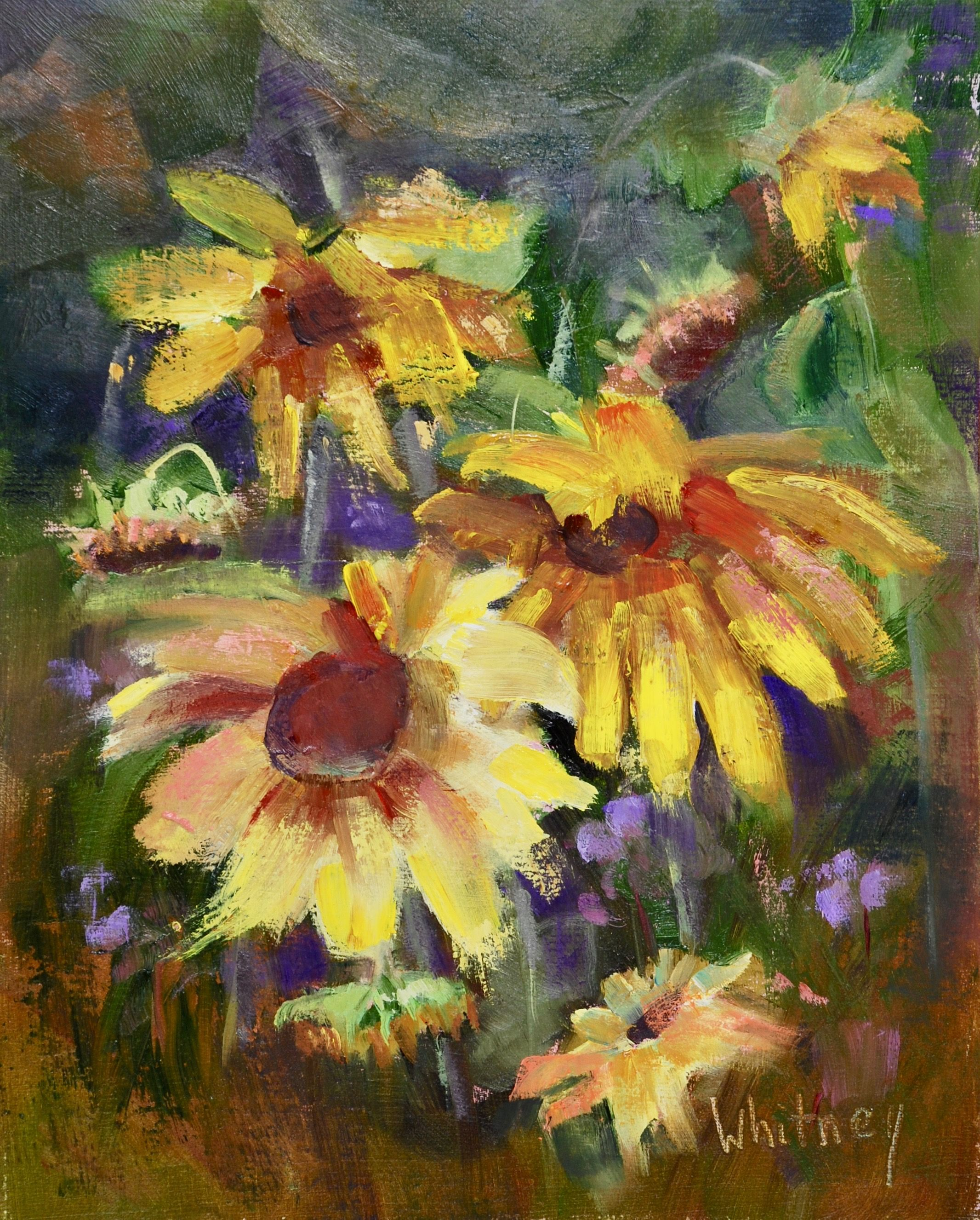 Sunflowers Original Painting From Chicago Botanic Garden Plein Air