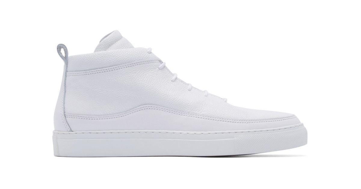 98fc90298215 Public school White Braeburn Mid-top Sneakers in White for Men ...