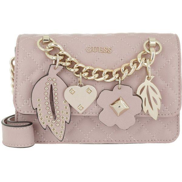 8d18f84eff Guess Shoulder Bag - Stassie Mini Crossbody Flap Cameo - in rose ...