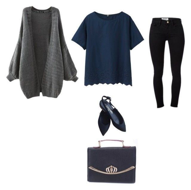 """""""Untitled #136"""" by deemalyaseen on Polyvore featuring Uniqlo, Frame Denim and Chanel"""