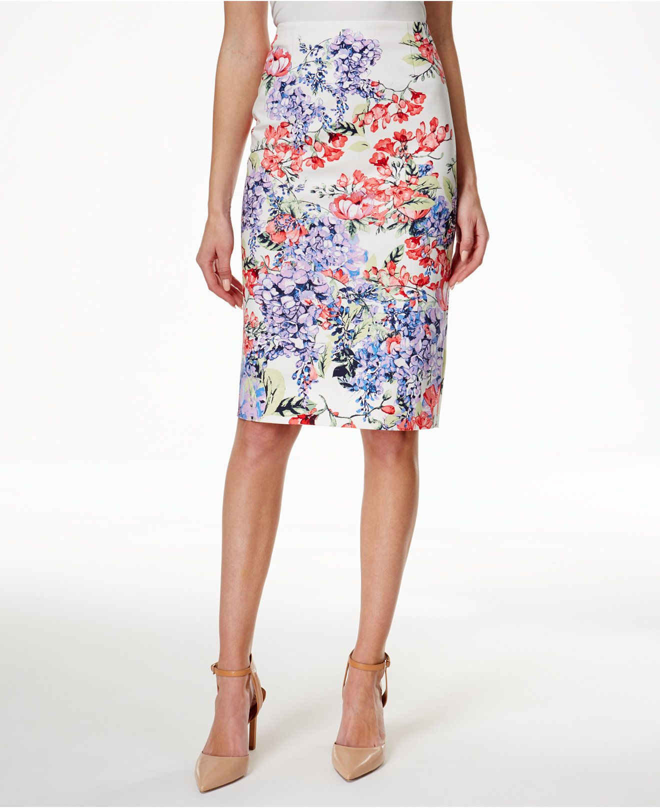 1024e3e28 Charter Club Petite Floral-Print Pencil Skirt, Only at Macy's - Skirts -  Women - Macy's
