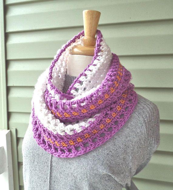 Pattern S 024 Crochet Pattern Nora Jean Infinity Worsted