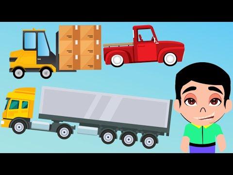 1 Truk Kontainer Besar Forklift Mobil Pick Up Kartun Animasi Warna Warni Anak Membawa Barang Berat Youtube In 2021 Character Family Guy Fictional Characters