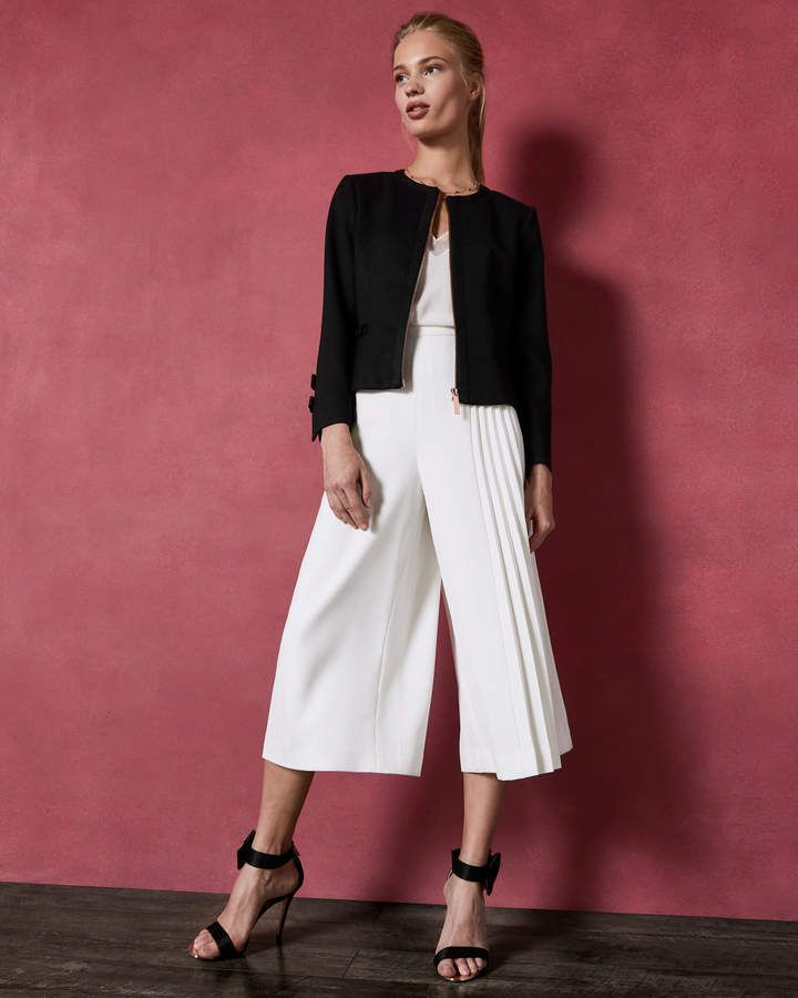 ad5356b0c2da33 Ted Baker NADAE Cropped bow detail jacket