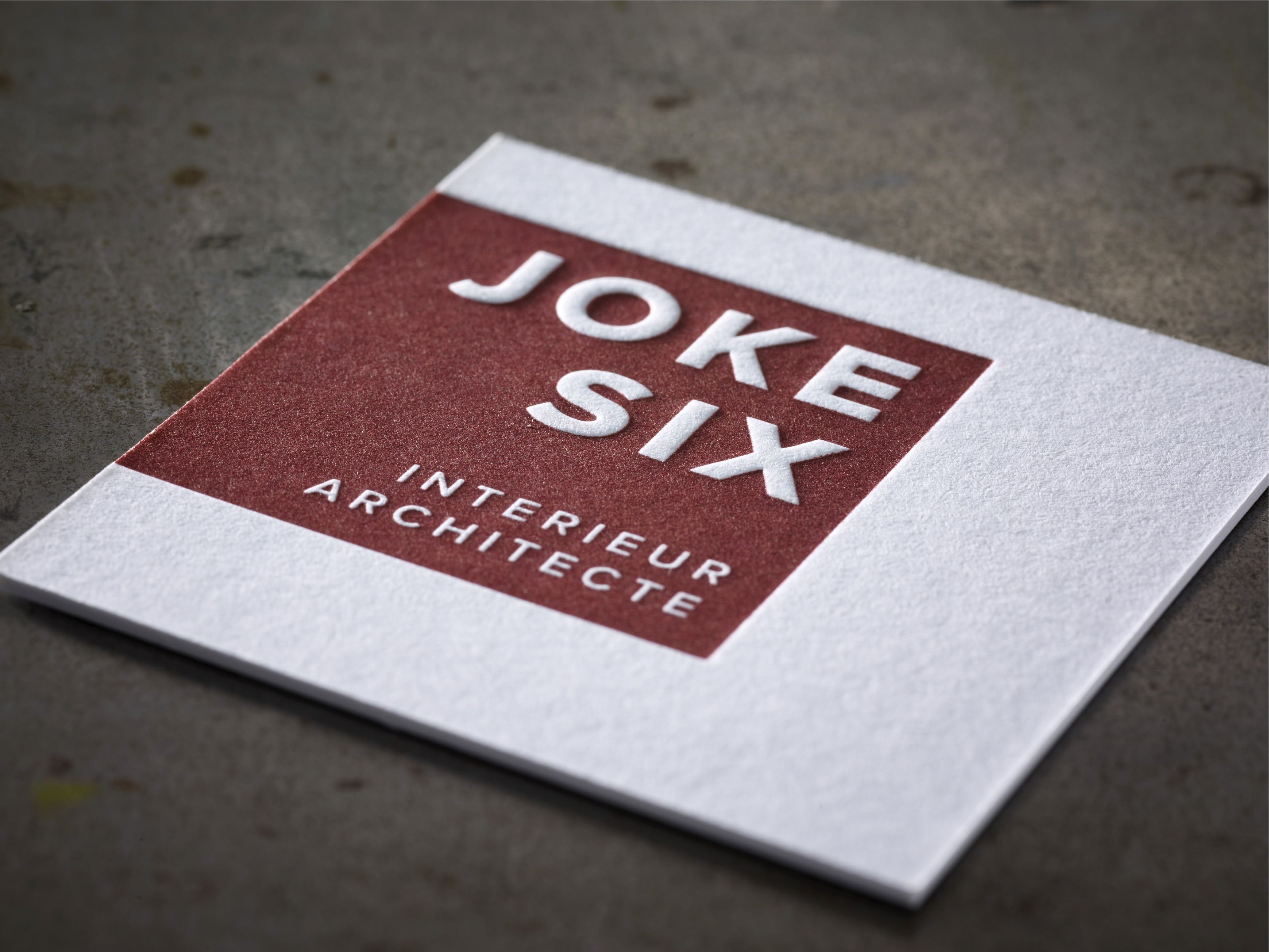 Business Cards JOKE Letterpress printing on Macho George 800gr ...