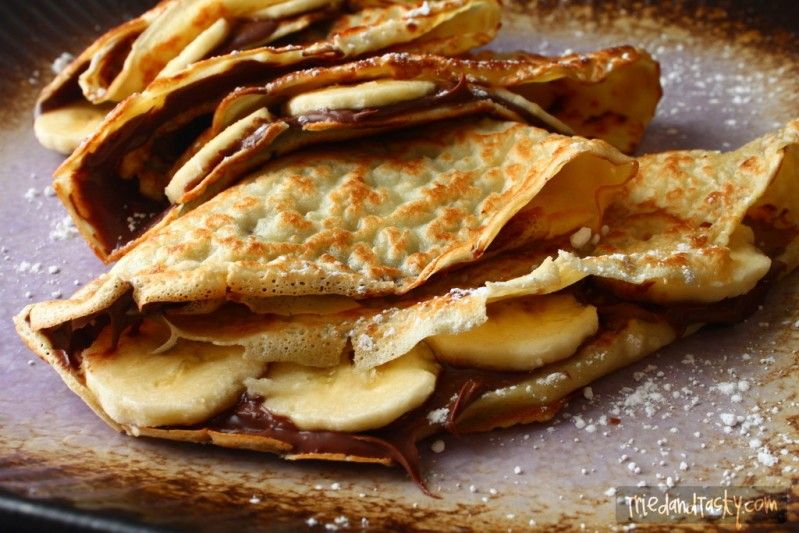 Banana Nutella Crepe Recipe Banana Nutella Crepes Nutella Crepes Banana Crepes