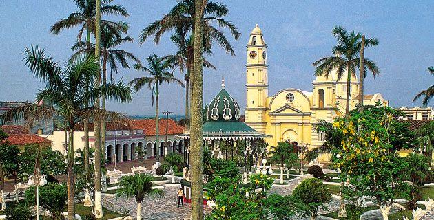 Plaza principal de Tlacotalpan, Veracruz. Foto: María de Lourdes Alonso