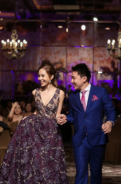 Andy And Wan Ting S Purple Tinged Singapore Wedding Dark Purple