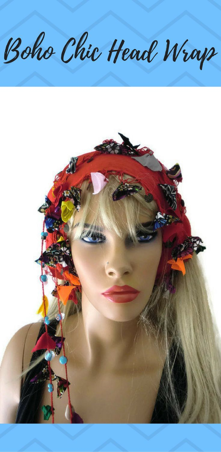 Red Hair Wrapheadband Head Scarf Boho Chic Head Wrap With Gypsy