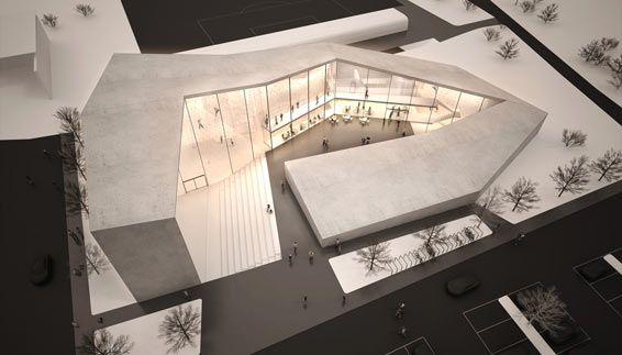 Kletterhalle in der schulzone in bruneck bz 2010 for Studium der architektur