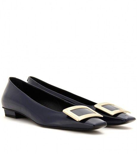 7d0b2ee55 ROGER VIVIER Black Belle Vivier Patent Leather Ballerinas - Lyst Ballerina  Shoes