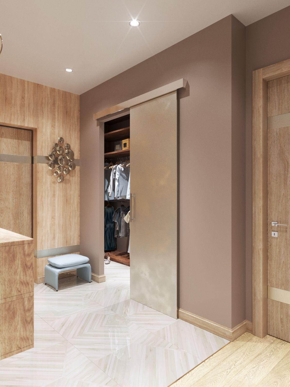 Шкаф-купе в гардеробной комнате | Дизайн комнаты в 2019 г ...