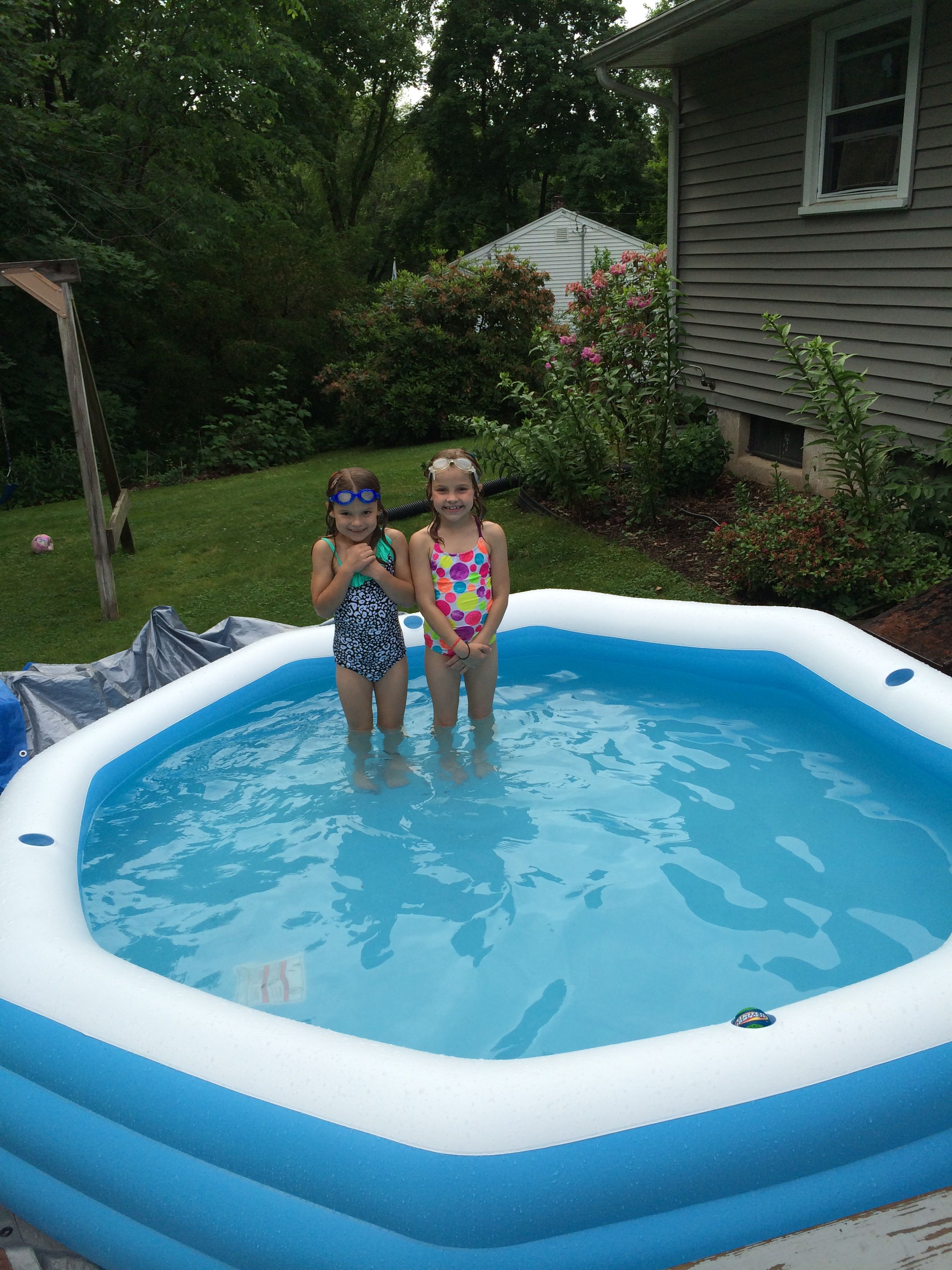 Use A Chlorine Sanitizer In A Kiddie Pool Keeps Pool Clear For Days No More Draining And Filling Every Other Day Kiddie Pool Pool Summertime Fun