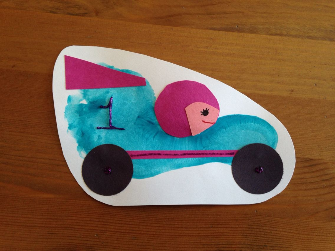Footprint Race Car Craft