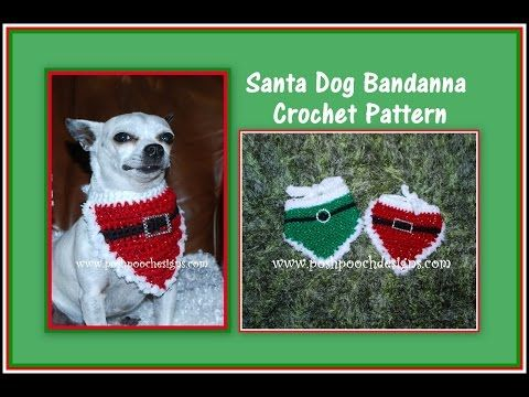 Christmas Santa Dog Bandanna Crochet Pattern | Mascotas y Ropa