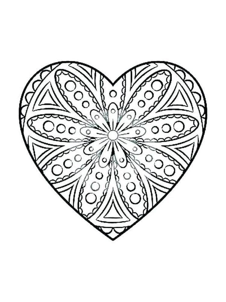 Heart Coloring Pages Colored Wallpaper Iphone