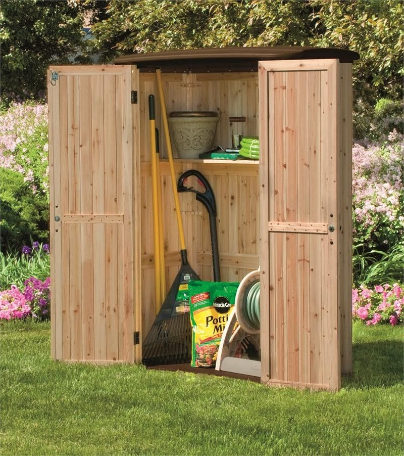 Upright Wood And Plastic Storage Shed Plastic Storage Sheds