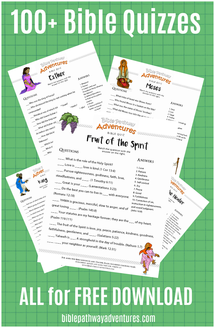 100+ Free Bible Quizzes for Kids | Quizzes, Bible and Free printables