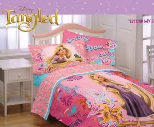 Disney S Tangled Rapunzel Full Comforter Sheet Set 5 Piece Bedding By 129 99 The Includes 1 Twin 72x86 Flat