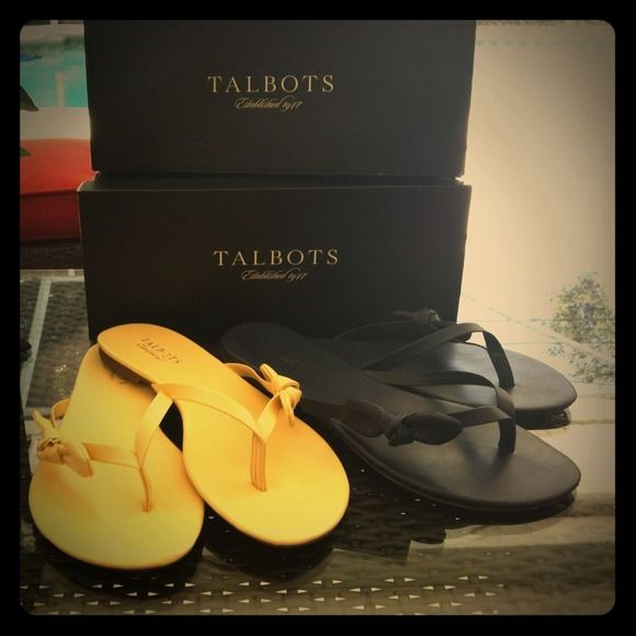 Just SOLD on POSHMARK: Like New-TALBOTS Two Pack Leather Flip Flops Sz 9 @Poshmark