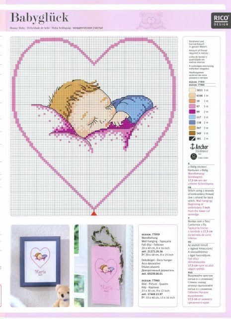Schemi Punto Croce Bimbo Che Dorme Punto Croce Bebes