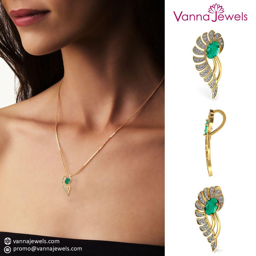 Vannajewels collection sgl certified diamond designer pendant with