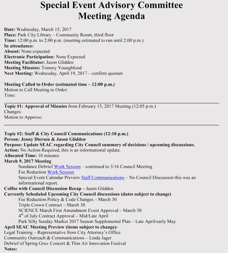 Event Planning Meeting Agenda Example Eventagendatemplate Staffmeetingagendatemplate Formalmeeti Agenda Template Meeting Agenda Template Program Template