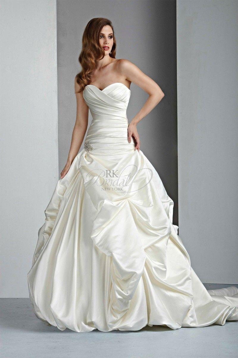 Rk bridal davinci bridal collection style strapless satin