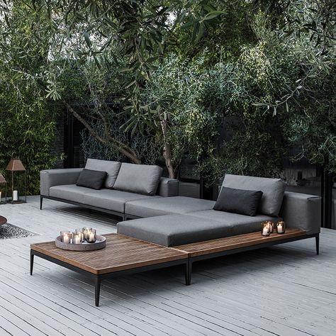 Moderne loungemöbel indoor  moderner Garten, Holz, Loungemöbel, Terasse | Inspiration ...