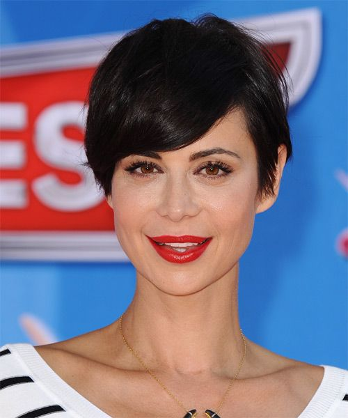 Catherine Bell Short Haircut : catherine, short, haircut, Catherine, Short, Straight, Black, Hairstyle, Hair,, Styles,, Styles
