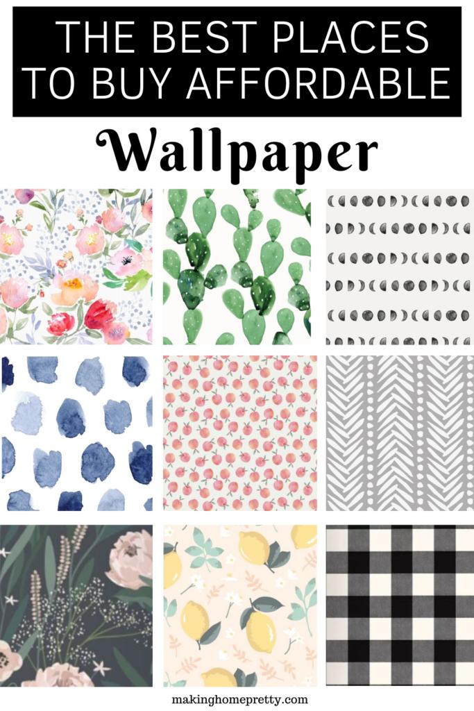 Meilleurs Endroits Pour Acheter Du Papier Peint Mignon Et Abordable Affordable Wallpaper Peel And Stick Wallpaper Stick On Wallpaper