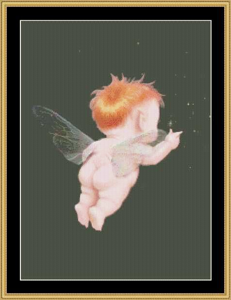 Pointing Pixie [MG-118] - $16.00 : Mystic Stitch Inc, The fine art of counted cross stitch patterns